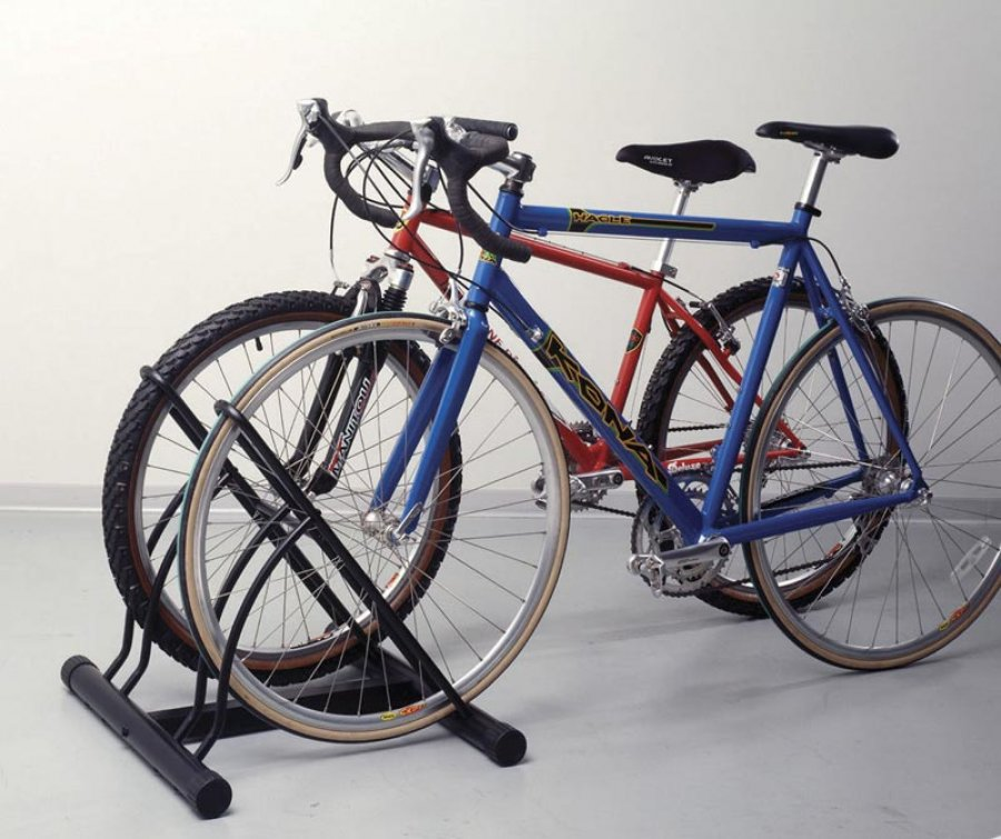Floor bicycle stand